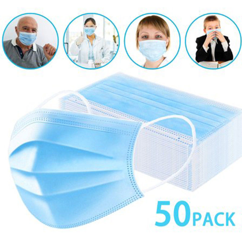 Breathable PPE 17.5×9.5cm Disposable Medical Face Mask